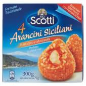 Riso Scotti, arancini siciliani pomodoro e mozzarella conf. 4x75 g