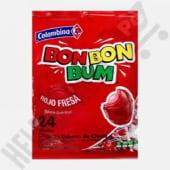 Chupetines Bon Bon Bum Fresa Bolsa X 24 Unidades