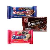 Galletas Rellenitas Gn Chocolate Pqt X 8Und.