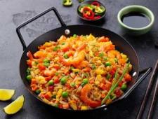Riz Cantonais Curry aux Crevettes