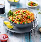 Riz Cantonais Curry au Poulet