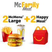 2 McMenu Large + 2 Happy Meal