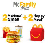2 McMenu Small + 2 Happy Meal