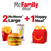 2 McMenu Large + 1 Happy Meal