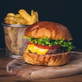Cheese Burger Medio (220 gr)