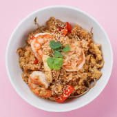 Рис смажений з креветками   ( 300 гр)