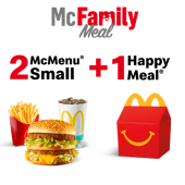 2 McMenu Small + 1 Happy Meal