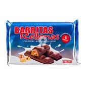 Chocolatina barritas rellenas (leche,avellanas y cacao)