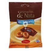 Caramelo sin azúcar nata