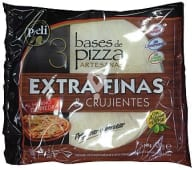 Base pizza congelada extra fina