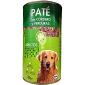 Comida perro pate cordero verdura adulto razas medianas y grandes