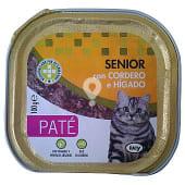 Comida gato senior pate cordero higado