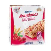 Barrita cereales arroz y trigo integral arandanos