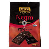 Chocolate negro mini tabletas (72% cacao)
