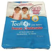 Toallitas húmedas, frescas y perfumadas para bebé con aloe vera y camomila