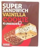 Helado sandwich super vainilla con cookies