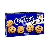 Galletas mini caritas con crema de cacao