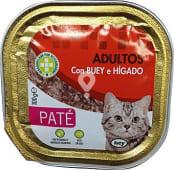 Comida gato adultos paté buey hígado
