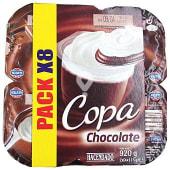 Copa chocolate y nata