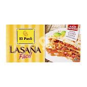 Pasta lasaña calidad superior placas precocidas