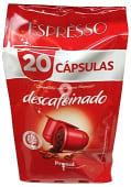 Café cápsula (compatible con cafetera sistema nespresso) descafeinado