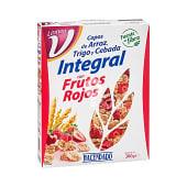 Cereal copos trigo integral frutos rojos