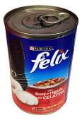 Comida gato gelatina buey e hígado