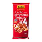 Chocolate leche con almendras enteras