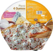 Pizza congelada 4 quesos (mozzarella,azul,emental,edam)