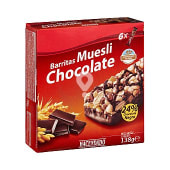 Barrita cereales muesli chocolate