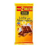 Chocolate leche almendras