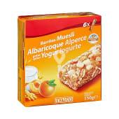 Barrita cereales muesli albaricoque y yogur