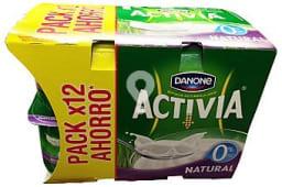 Yogur bifidus desnatado natural activia