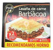Lasaña de carne a la barbacoa congelada (recomendamos hacer al horno)