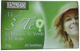 Infusion mezcla 3 tes (te verde, rojo y blanco)