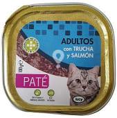 Comida gato adultos pate trucha salmon