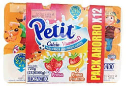 Petit frutas variadas 6 fresa y 6 fresa-platano