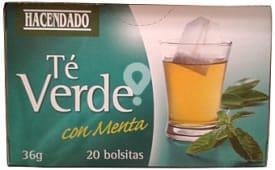Infusion té verde con menta (refrescante)