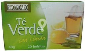 Infusión te verde con limón