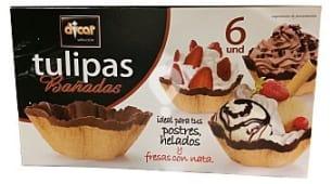 Barquillo tulipa chocolate para helado y postre *verano*