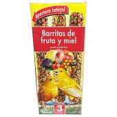Comida canario barrita fruta y miel