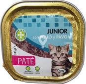 Comida gato junior paté pollo pavo