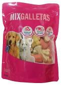 Comida perro galleta mix aroma vainilla y rellena de carne adulto