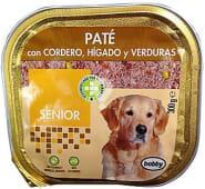 Comida perro pate cordero higado verduras senior razas medianas y grandes