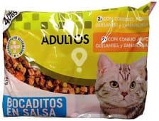 Comida gato adultos pate (cordero, pollo, guisantes, zanahorias) + (conejo, pavo, guisantes, zanahorias)