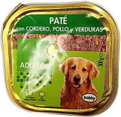Comida perro pate cordero pollo y verduras adulto razas medianas y grandes