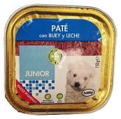 Comida perro pate buey y leche junior razas pequeñas