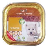 Comida perro pate buey arroz senior razas pequeñas