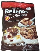 Cereal relleno crema chocolate y avellanas