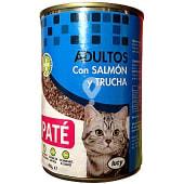 Comida gato adultos paté trucha salmón
